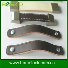 Brown,whtie leather handle luggage handle parts popular in German