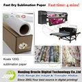 Sublimação de papel para a caneca de cerâmica, pano de tecido