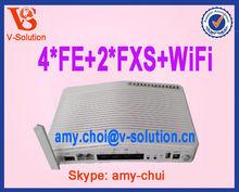 WiFi modem,4FE+2FXS+WiFi GEPON ONU, telecom products