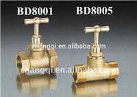 Brass Stop Valve(Brass Body, Stem, Handle, PTFE Seat and Gasket)