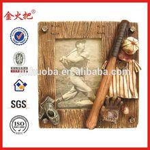 Custom resin baseball photo frame