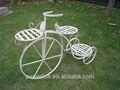 Vehículo de tres ruedas de metal/plantador de la bicicleta titular de soporte del patio del jardín al aire libre oasis