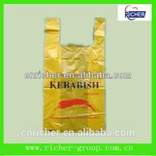 medium t shirt bag vest bag plastic shopping bag for packing rice