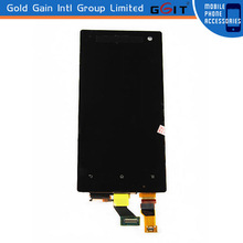 Black Touch Screen Digitizer LCD Assembly For Sony LT26W Display Replacement
