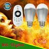 9w 2.4g rf remote control mi.light AC86-265 V intelligent warm led light bulb,ww/cw led bulb for Apple and android application