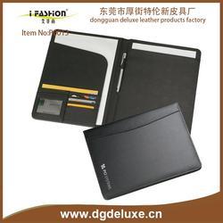 china a4 pu portfolio / conference folder with zipper closure