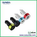 Producto nuevo hecho en china 3.1a/2.1a coche universal cargador del teléfono celular