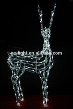 hot sale 3D acrylic reindeer motif light outdoor christmas light