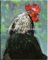 Pintura al óleo decorativa directa fábrica de gallos en la lona