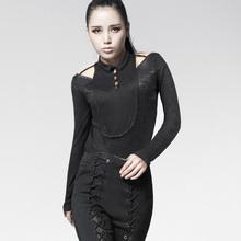 China supplier unique design decadent goth ladies rock t-shirts PT-016