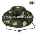 qualidade de aba larga camo exército safari chapéu de balde fabricante