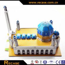 Wholesale wooden house 3d model puzzle toy/kids 3d model puzzle toy