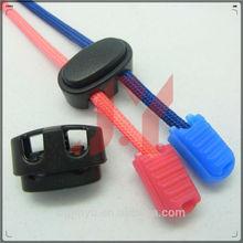 ABS plastic cord lock/plastic stopper/string cord lock for bag/garment