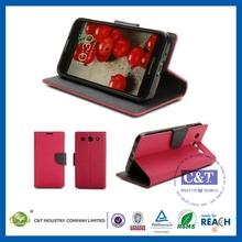 View phone case flip leather case for lg e400 optimus l3