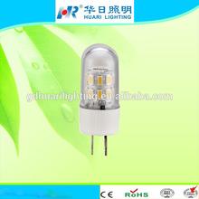 2014 new model!!!! 12V LED light 360 degree beam angle high lumen output heat conduction LED G4 lamp 1.5W 150lumen