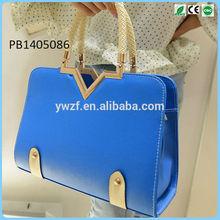 Ladies Korean Style Totes Bag PU Contrast Hand Shoulder Cross Body Bag