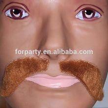 MUS-1111 Red Viking Mustache Halloween Costume Fake Beard