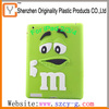 Hot sales silicone M&M chocolate beans ipad protect cover for 2G/3G/4G