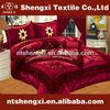 King size velvet patchwork quilt set duvet cover bed room set with curtain 3d embroidery colorful floral bedding sets