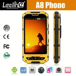 A8 audio video distributor ptt cdma gsm android mobile phone / ip68