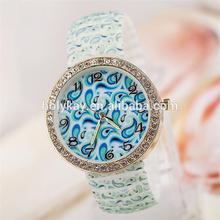 wholesale ebay china 2014 fashion blue tone water drop print womens watch