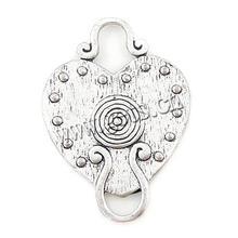 in lega di zinco 14k braccialetto di fascino cuore