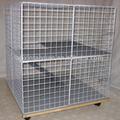 prezzo di fabbrica zincato rete metallica rivestita in plastica gabbia per conigli