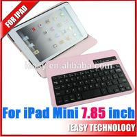 For iPad Mini Bluetooth Keyboard,Stand Leather Case for iPad cover wireless blue tooth keyboard for ipad