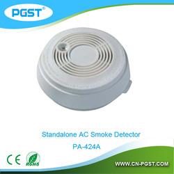 mini smoke detector waterproof PA-424A , 9Vbattery&220VAC, CE&ROHS&EN14604
