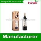 Tote burlap fabric wine bottle jute bag for promotion