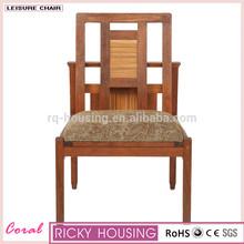 ومن ناحية منحوتة خشب مغطى كراسي خشب الساج الرئيس متكئين rq20601 كرسي المحمولة