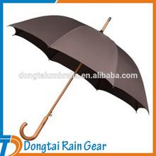 Promotion Cheap Automatic Rain Umbrella Wooden Handle