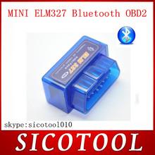 New Design Super Mini ELM327 Bluetooth OBD2 auto code reader mini327 Car diagnostic ELM 327 FREE SHIPPING