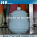 Açúcar chá de armazenamento de café branco da porcelana vasilha