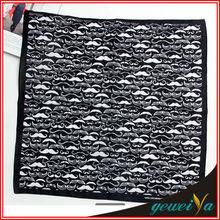 Fashion Beard Printing Cotton Personalized Handkerchief