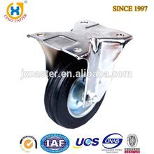 "4"" rigid Rubber caster Wheel,fixed rubber casters"