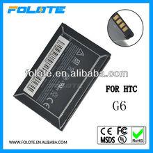 3.7v 1300mah li-ion battery for HTC mobile phone BB00100 legend/ I ncredible /Googl G6