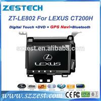 "ZESTECH gps dvd radio player 8"" car gps navigation for Lexus CT200H car gps navigation system with dvd"