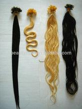 100% human hair extension, small tip and thin glue keratin glue tip hair