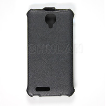 Concise design 100% perfect fit pu leather case flip cover for alcatel one touch scribe hd ot 8008d