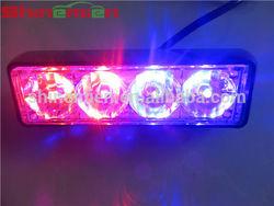 4LED Flashing Grill Light 12/24v Lightbar Truck Recovery Strobe Red/ blue led strobe lighthead