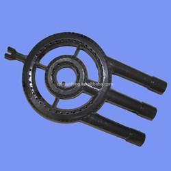 Customized cast iron gas bbq burner parts