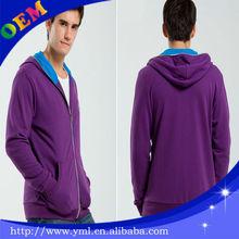 casual high quality hoodies clothing/jacket blank hoodie sweatshirt.