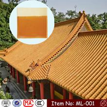 ML-001 225X220X11.5mm temple colour coated fine china porcelain ceramic