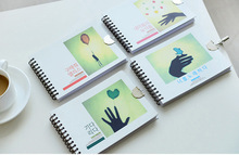 mini spiral notebook with lock/diary book for girl