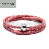 Factory Promotion! USD2.65 triple leather wrap bracelet