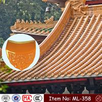 ML-358 180X225X12mm light weight chinese yellow dragon porcelain
