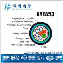 High quallity GYTA53-4 core fusion splicing fiber optic cable