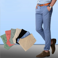official dress for men fashion baggy chino straight long casual pants trousers