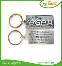 wholesale custom metal engrave letter names key chains